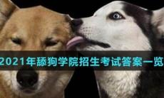 2021年舔狗学院招生考试答案一览-2021年舔狗学院考生答案大全